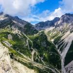 Muttekopfhuette   view towards climbing area